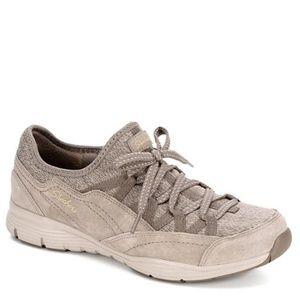 New Women's Skechers Zip Line Taupe Sneakers
